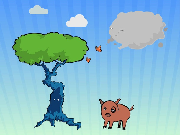 Pig In Forest