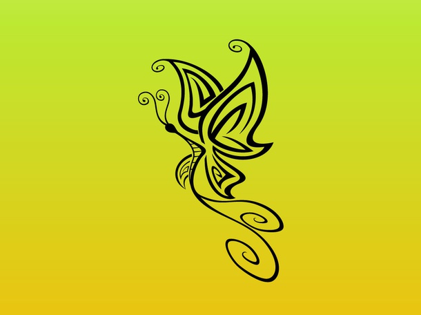 Tribal Butterfly Graphic