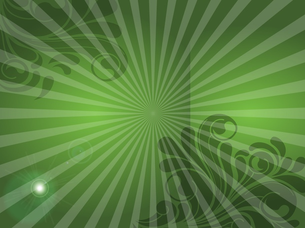Green Scrolls Background