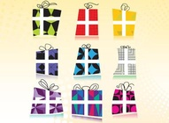 Retro Gift Pack Vectors