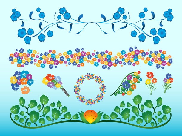 Colorful Flowers  Decorations