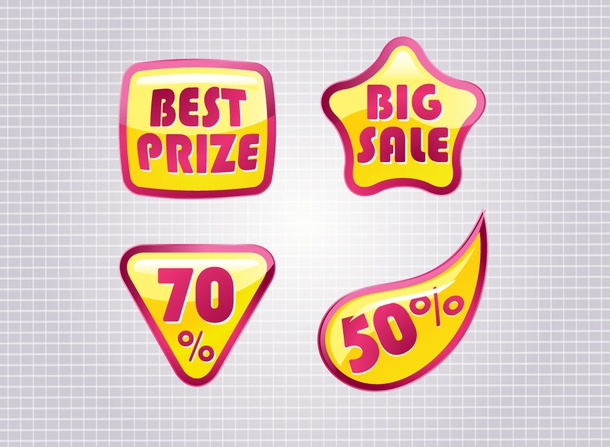 Sales Badges Vector