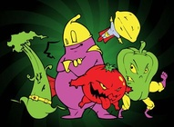Mutant Food Cartoons
