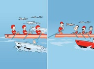 Row Team Cartoon Graphics
