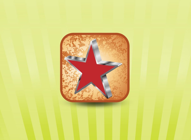 Star Grunge Vector Icon