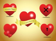 Love Heart Vector Clip Art