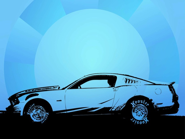 Sports Car Vector Trace
