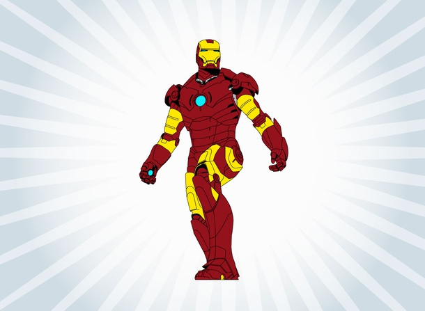 Vector Iron Man