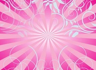 Pink Swirls and Rays