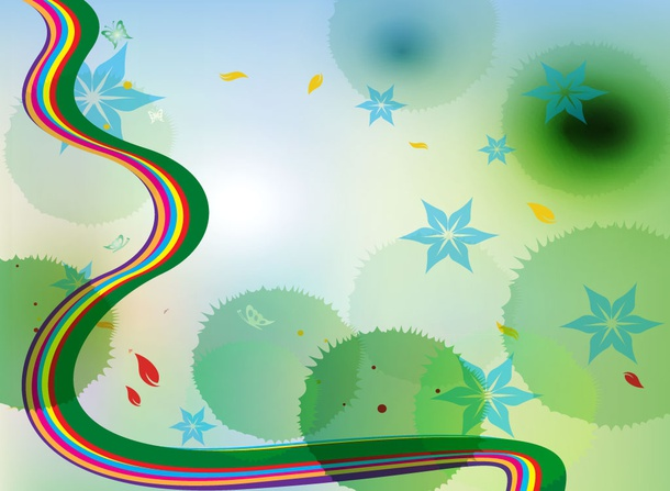 Rainbow Swirl Backdrop