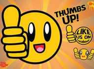 Thumbs Up  Like Us Graphic