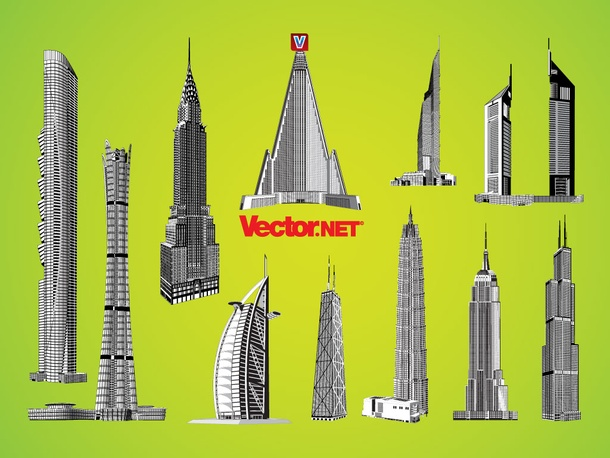 Dynamic Skyscraper Vectors