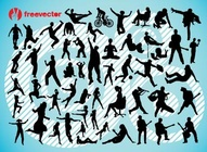 Active People Vector Silhouettes