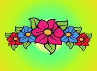 Floral Band Vector