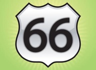Glossy Route 66 Sign