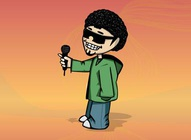 DJ Cartoon Character