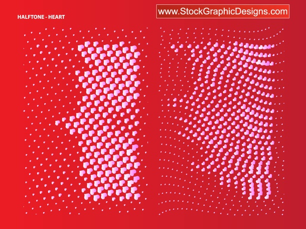 Heart Halftone Pattern