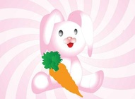 Pink Bunny Cartoon