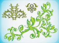 Nature Ornament Vectors