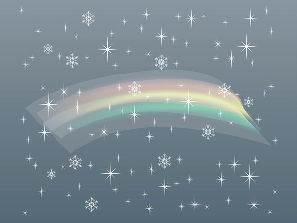 Snow And Rainbow