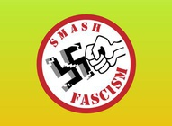 No Fascism Vector Emblem
