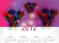 Abstract Calendar Design
