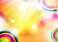 Rainbow Circles Vector