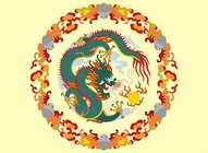 Chinese Dragon Mandala