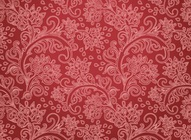 Red Flower Motif Pattern