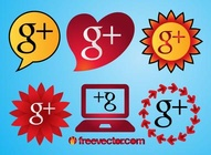 G+ Vector Icons
