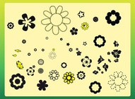 Simple Flowers Clip Art