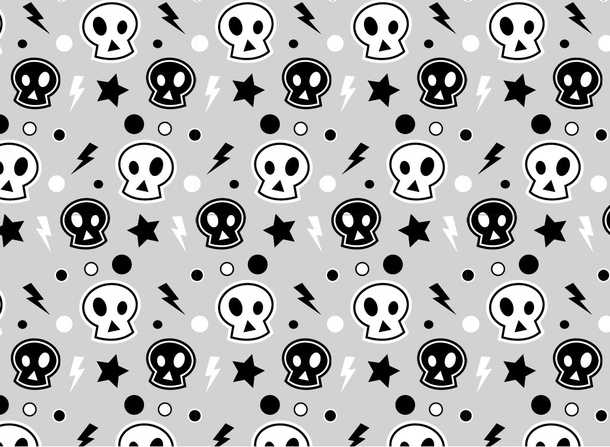 Cartoon Skull Pattern