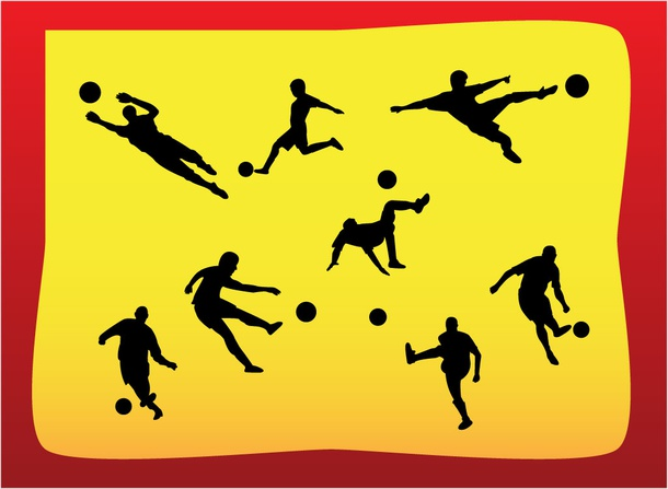 Soccer Players Vector Graphics