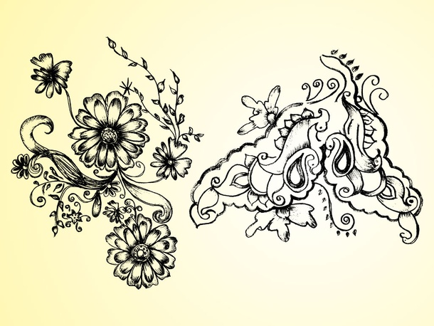 Nature Floral Drawing