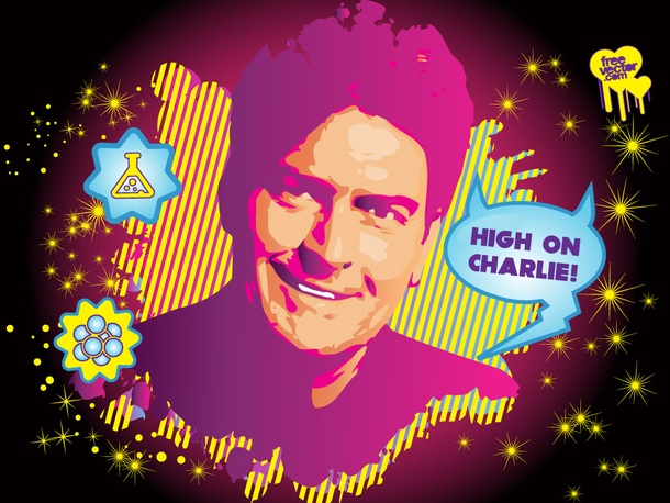 Charlie Sheen Vector