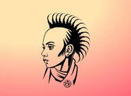 Mohawk Girl Vector