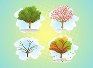 Tree Seasons Graphics