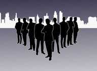 Corporate Leaders Silhouettes