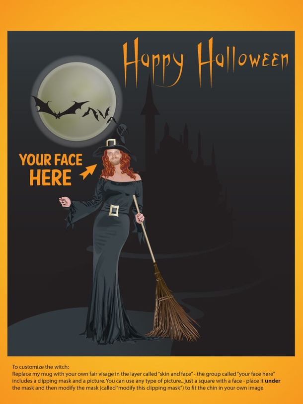 Fun Halloween Card Template