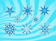 Stylized Snow Flakes Vectors
