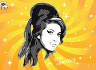 Amy Winehouse Portrait Vector