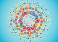 Colorful Radiating Circles