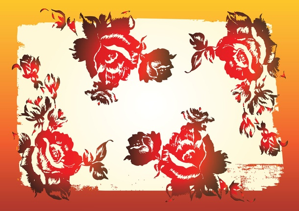 Red Rose Pattern