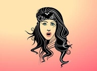 Vector Gypsy Girl