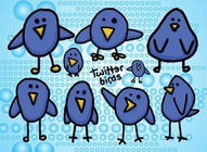 Cartoon Twitter Birds