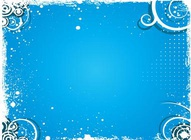Winter Blue Vector Background