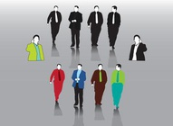 Businessmen Vector Set