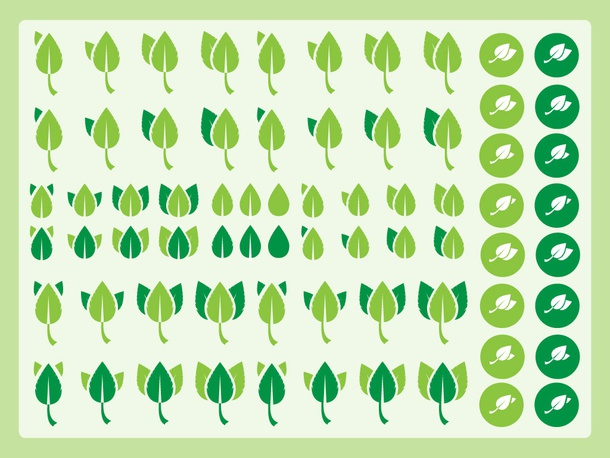 Green Leaves Icons