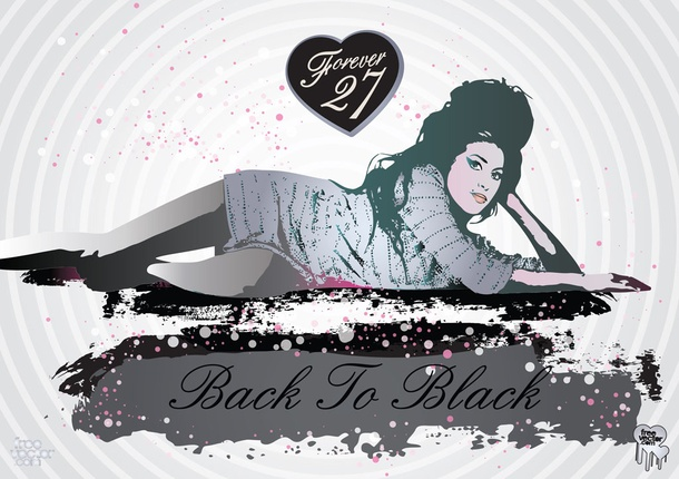 Amy Winehouse Back to Black Vector