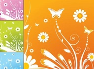 Butterfly Floral Tiles